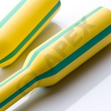 G5-YG - Yellow & Green Striped Polyolefin Tubing